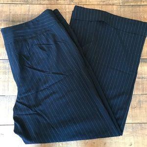 Lane Bryant trouser pant black w/ metallic stripe